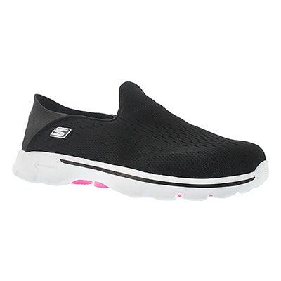 Skechers Women's GOwalk 3 black convertible heel slip ons