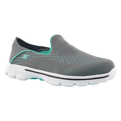 Skechers Flâneurs à talon transformable GOwalk 3, gris, fem