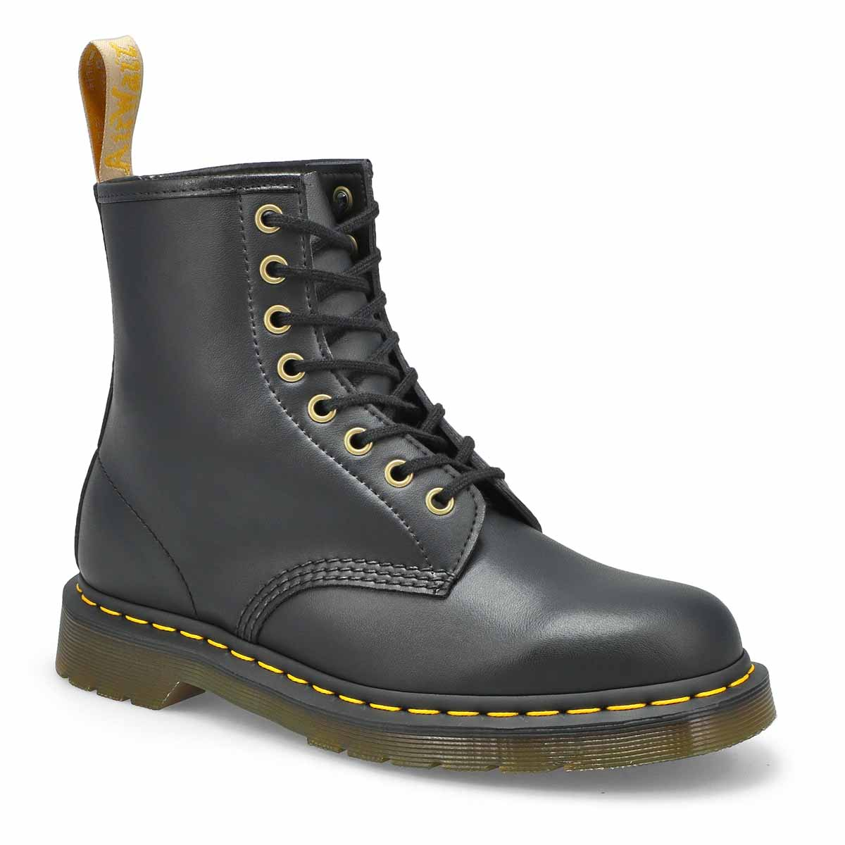 Lds Vegan 1460 8-Eye black smooth boot