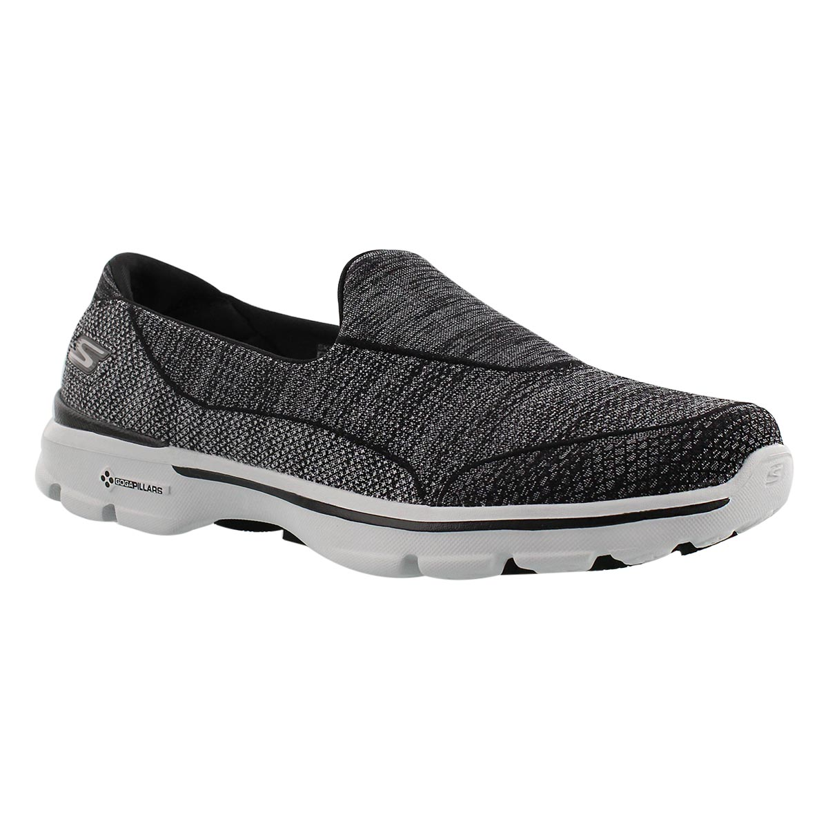 Lds Super Sock 3 blk/gry walking shoe