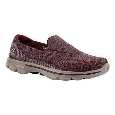 Lds Super Sock 3 burgundy walking shoe