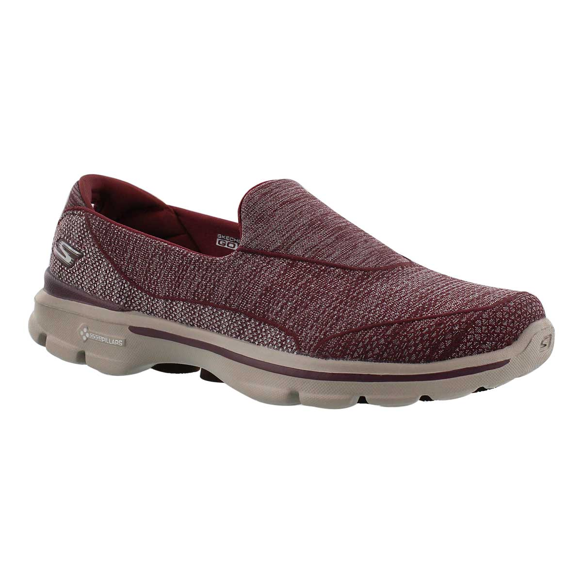 Lds Super Sock 3 burgundy walking shoe