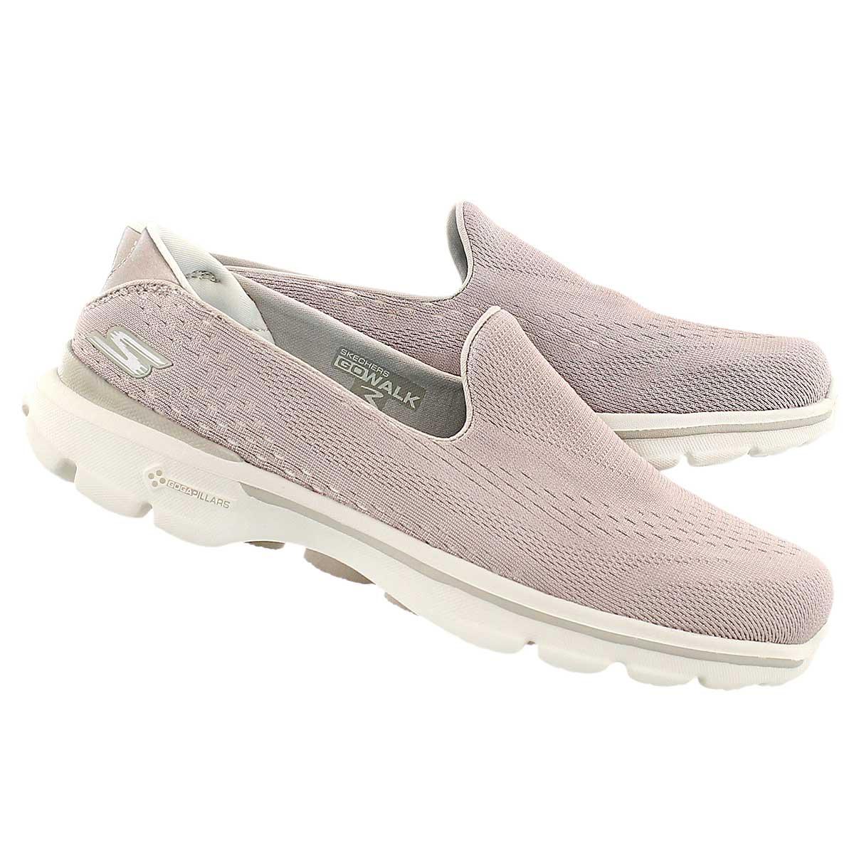 Lds GOwalk 3 natural slipon walking shoe