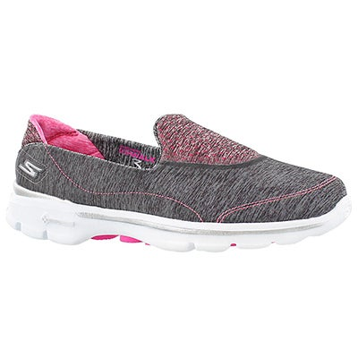 Skechers Women's GOwalk 3 ELEVATE grey slipon walking shoes