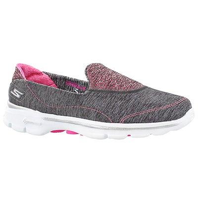 Skechers Women's GOwalk 3 ELEVATE grey slipon walking shoes