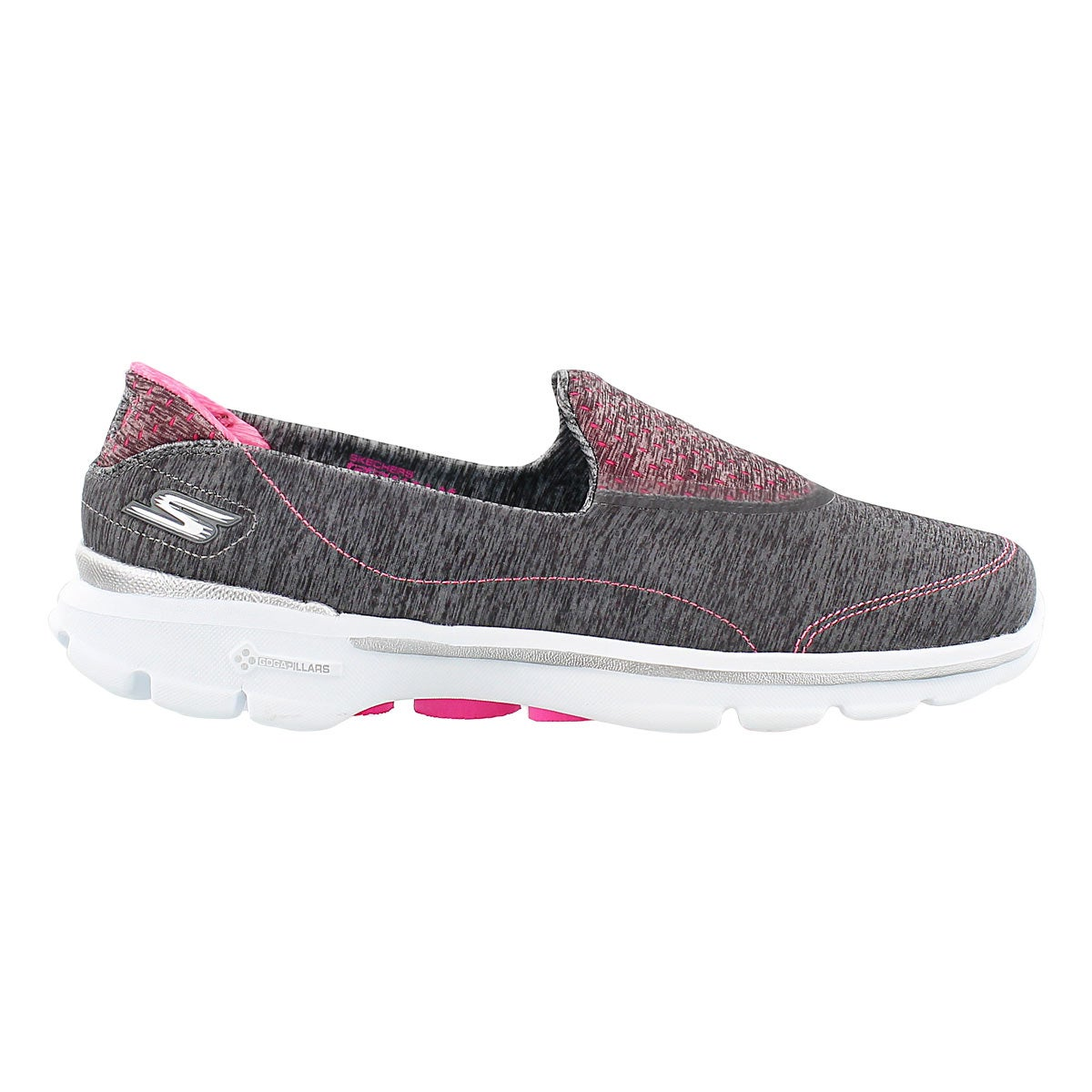Lds GOwalk 3 Elevate gry slipon shoe