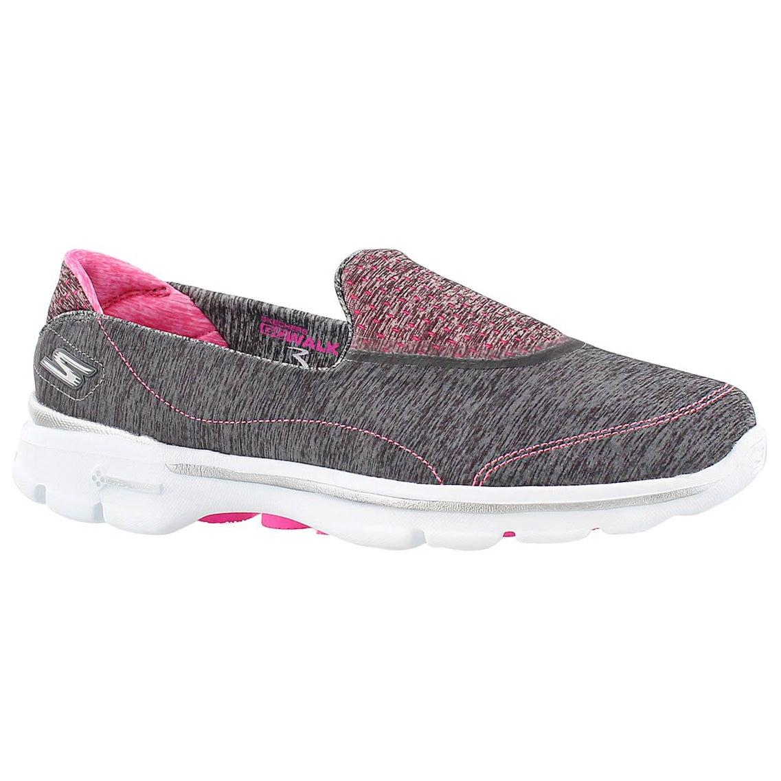 Lds GOwalk 3 Elevate gry slipon shoe