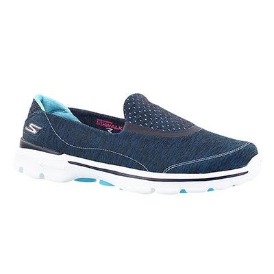 Skechers Women's GOwalk 3 ELEVATE blue slipon walking shoes