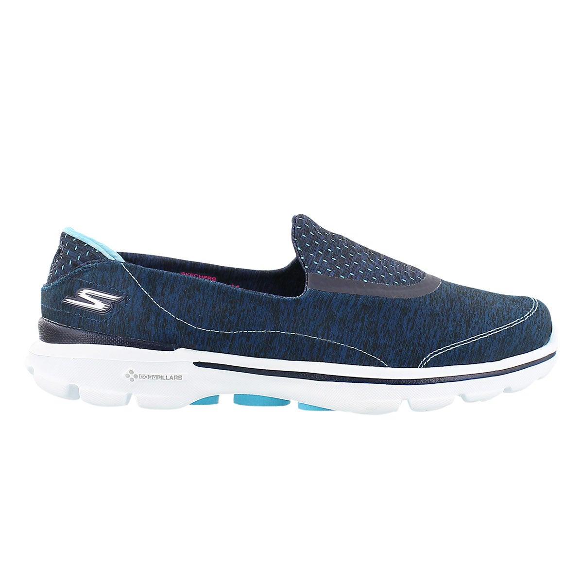 Lds GOwalk 3 Elevate blue slipon shoe