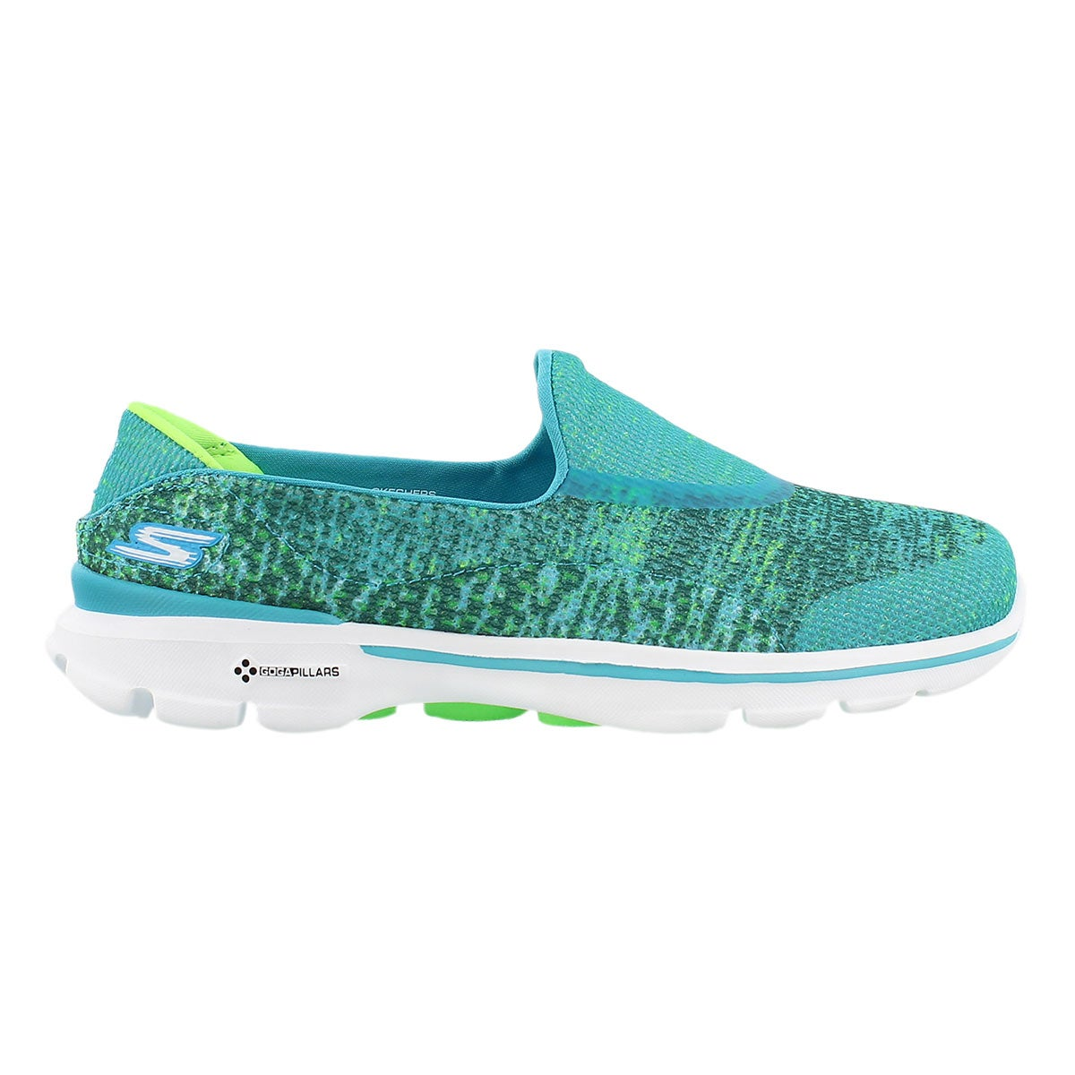 Lds GOwalk 3 Glisten teal slipon walking