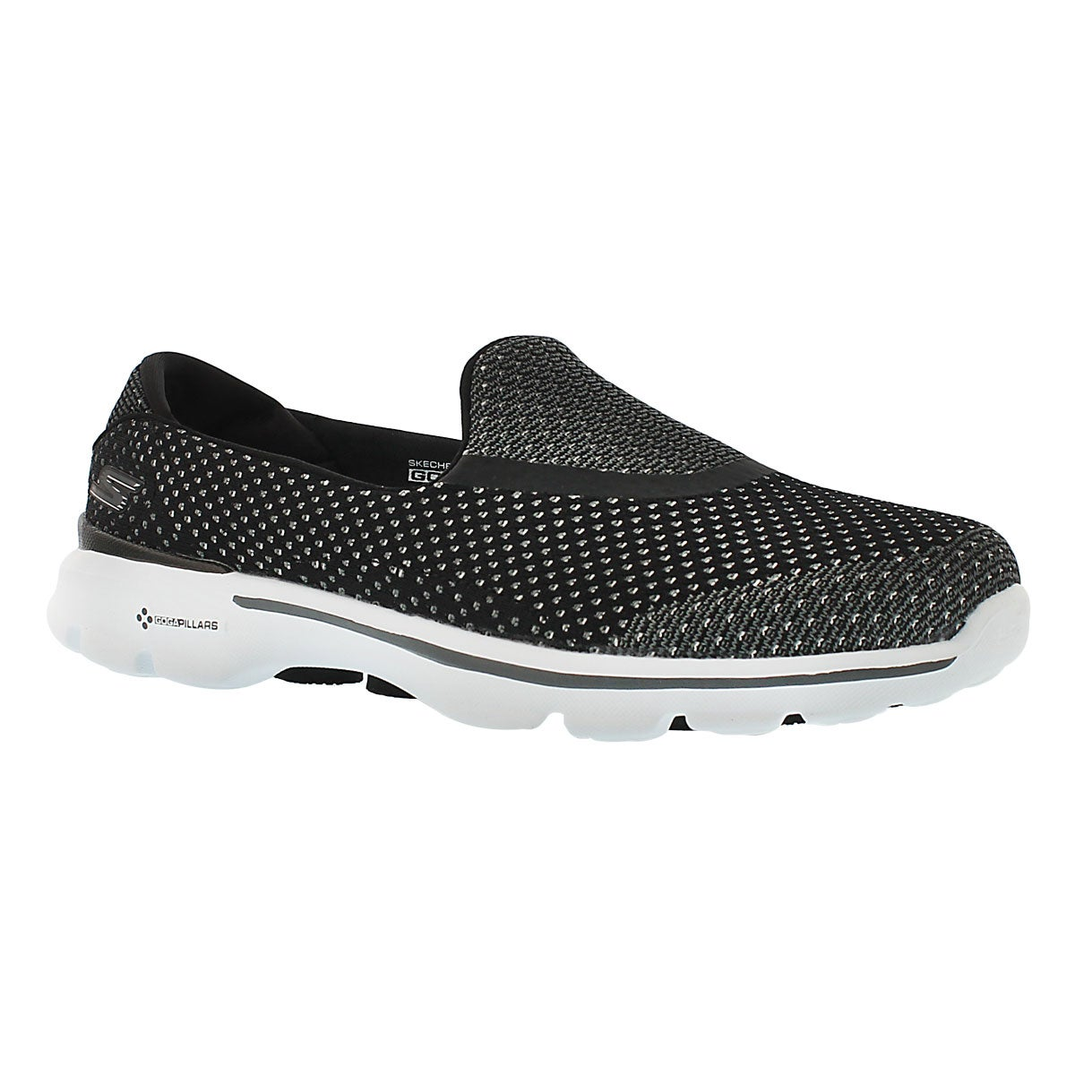 Women's GOwalk 3 black slip on sneakers