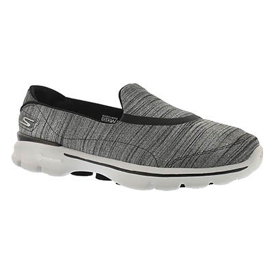 Skechers Women's GOwalk 3 black/grey walking shoe