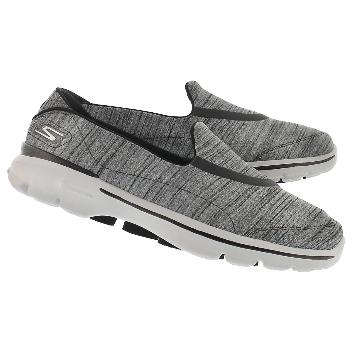 Lds GOwalk 3 blk/gry walking shoe