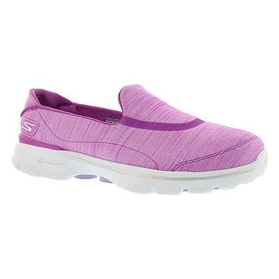 Lds GOwalk 3 purple walking shoe