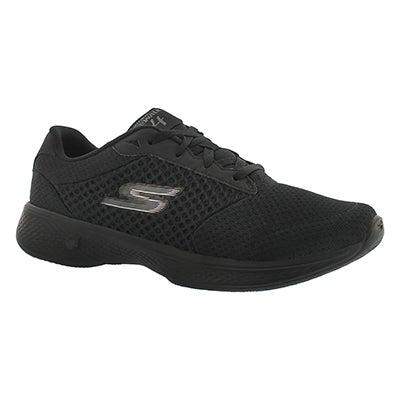 Skechers Women's GOwalk 4 black lace up walking shoes