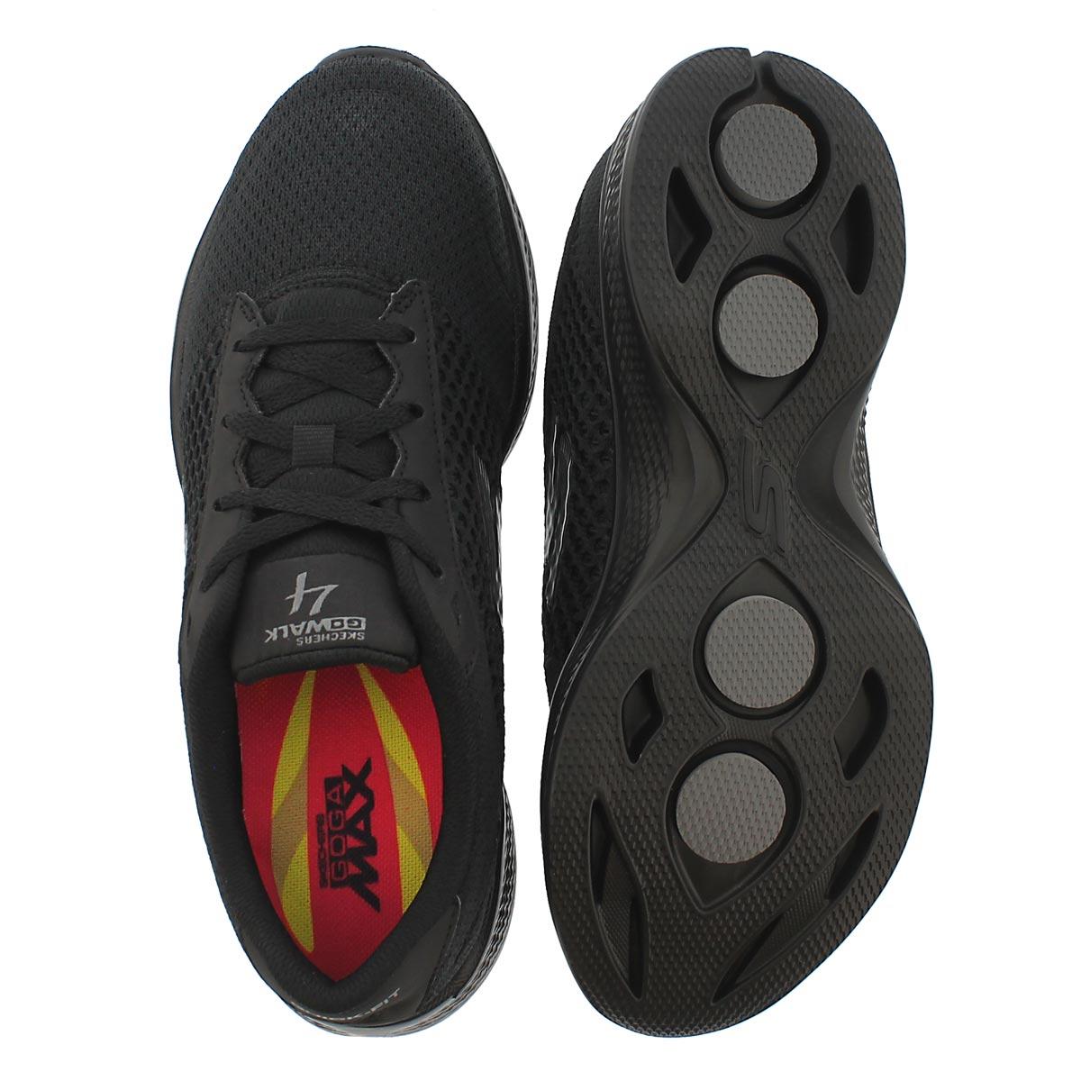 Lds GO Walk 4 blk lace up walking shoe