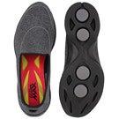 Lds GO Walk4 Super Sock blk slip on shoe