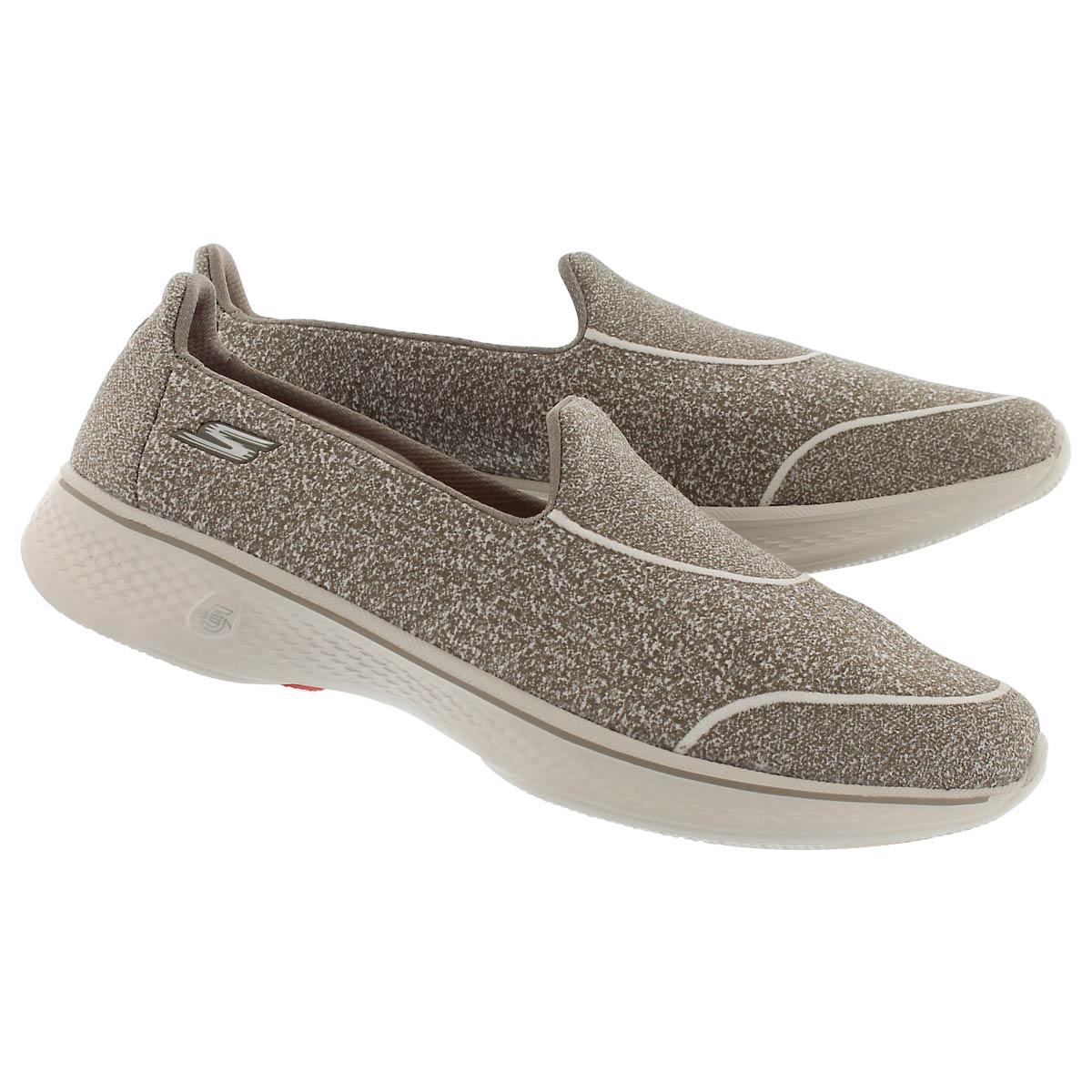 Lds GO Walk4 Super Sock tpe slip on shoe