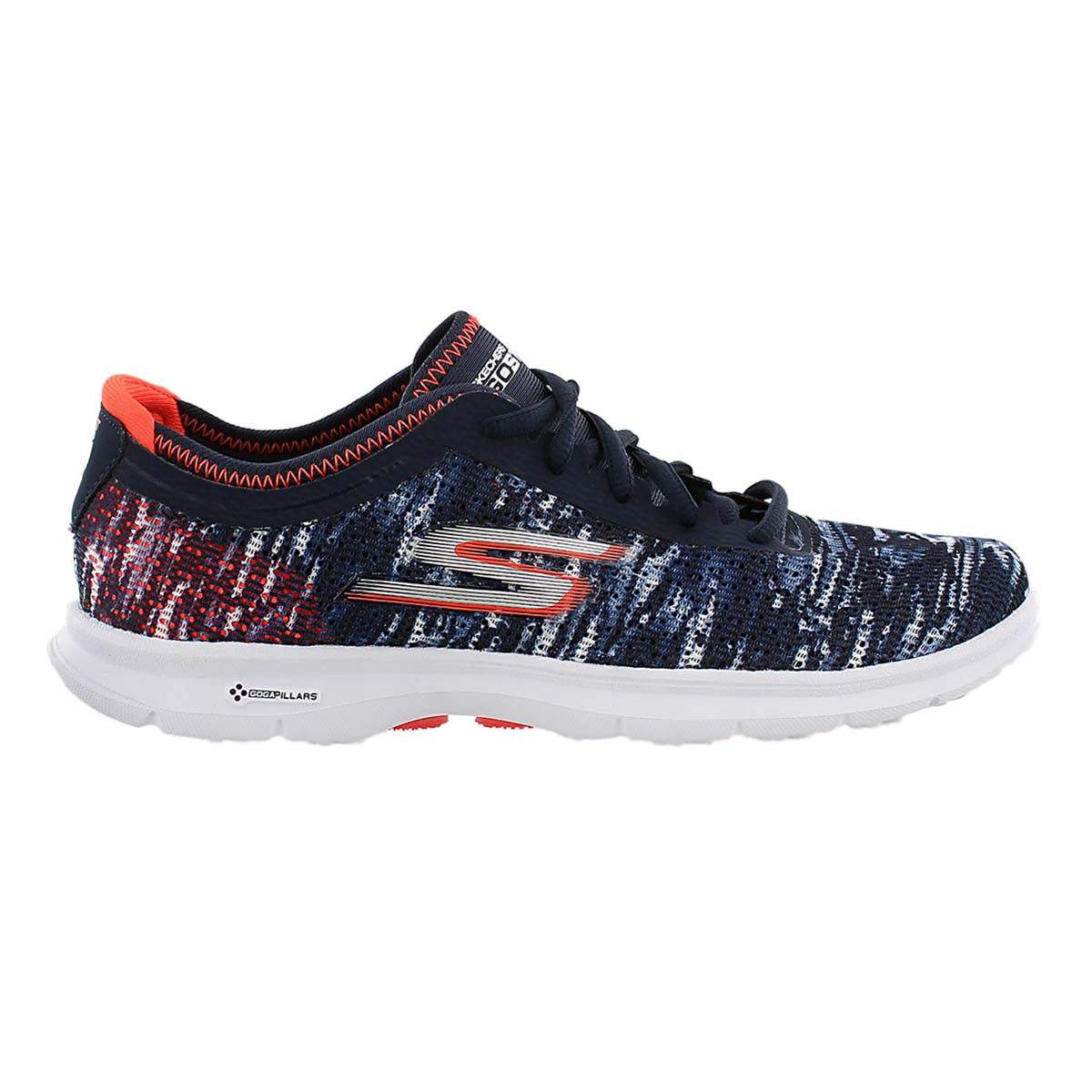 Lds GOstep nvy/coral laceup sneaker