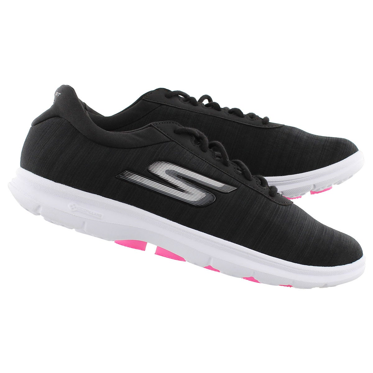 Lds GOstep Unmatched blk/wht sneaker
