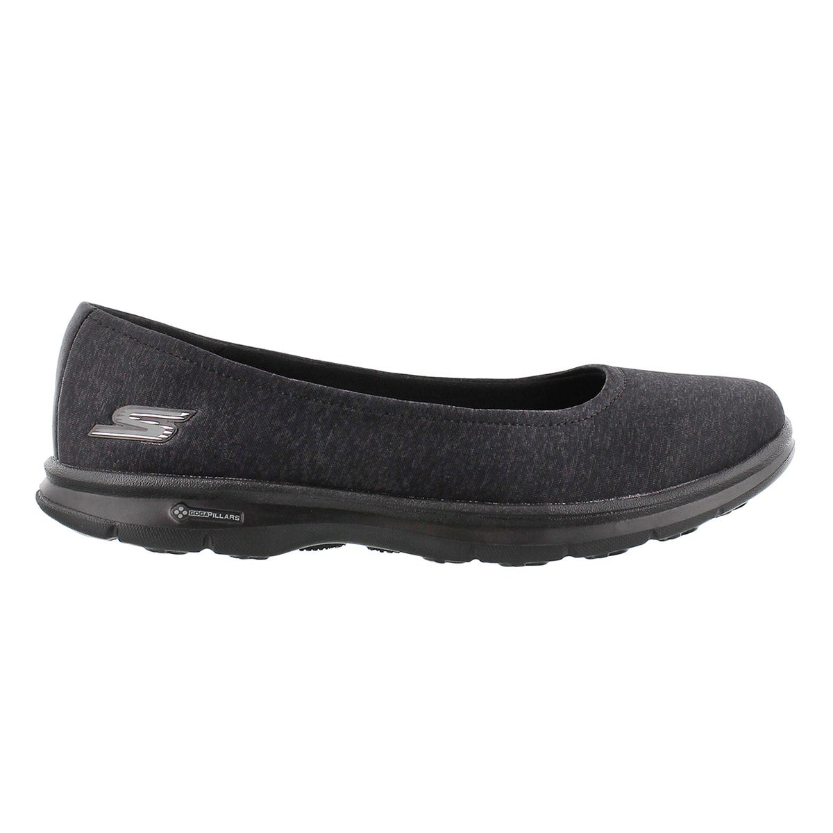 Lds GOstep Challenge blk walking shoe