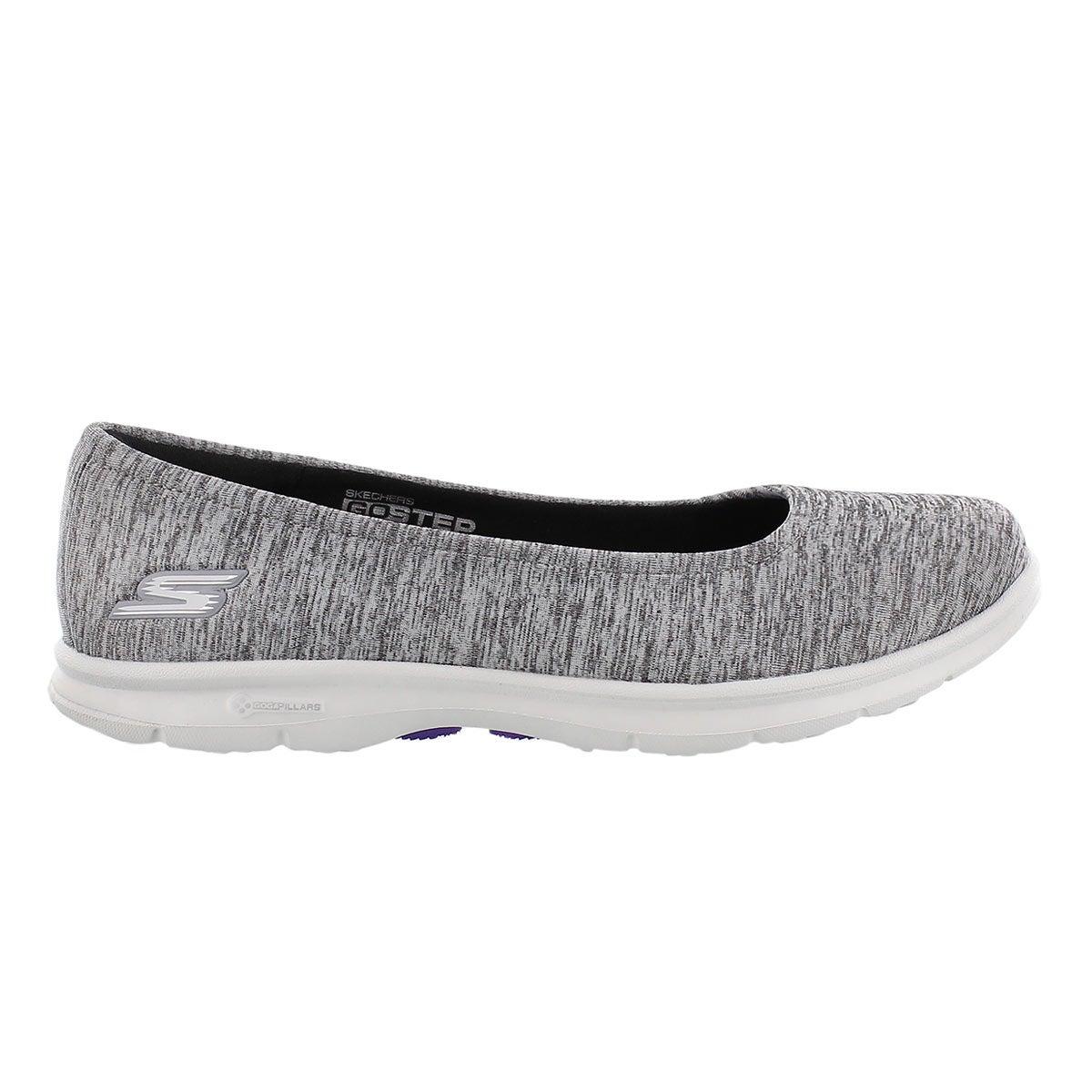 Lds GOstep Challenge blk/wt walking shoe
