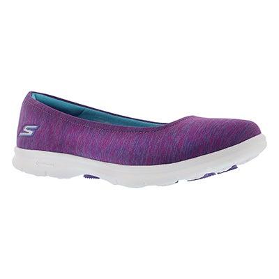 Skechers Women's GOstep CHALLENGE purple/blue walking shoes