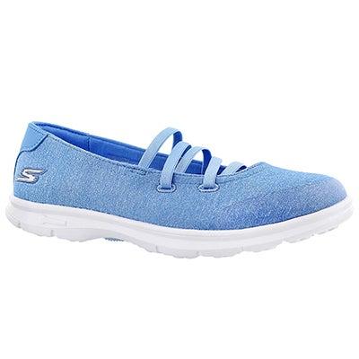 Lds Pose blue mary jane flat