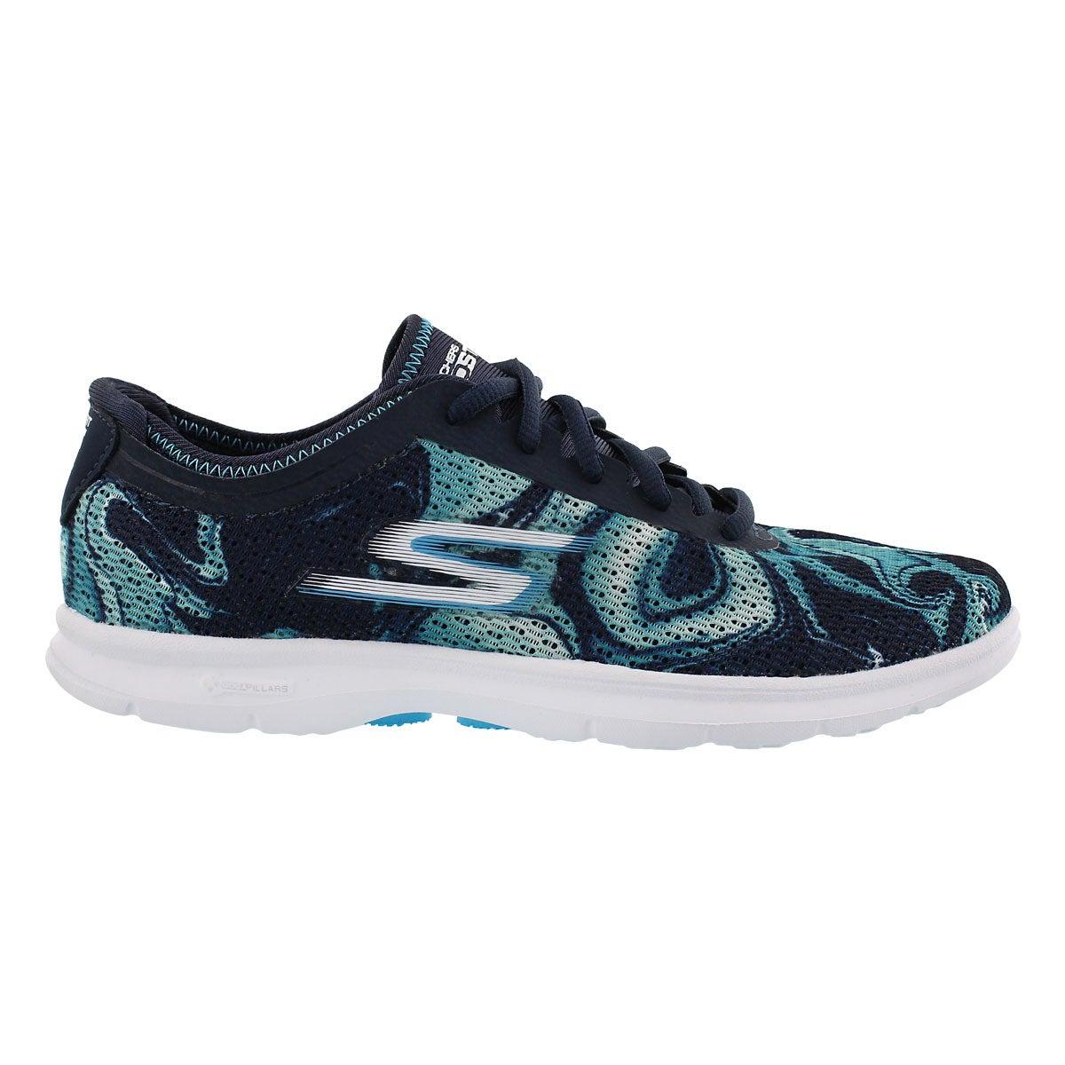 Lds Daze nvy/blu marble print sneaker