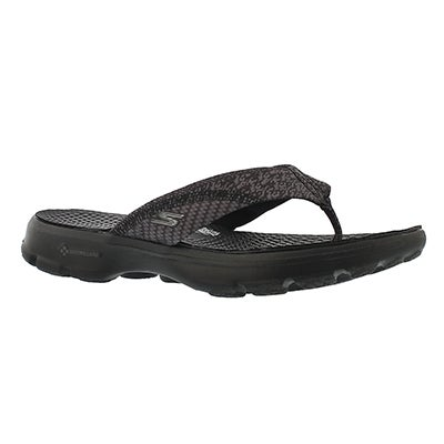 Skechers Women's PIZAZZ black thong sandals