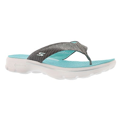 Skechers Women's PIZAZZ aqua thongs sandals
