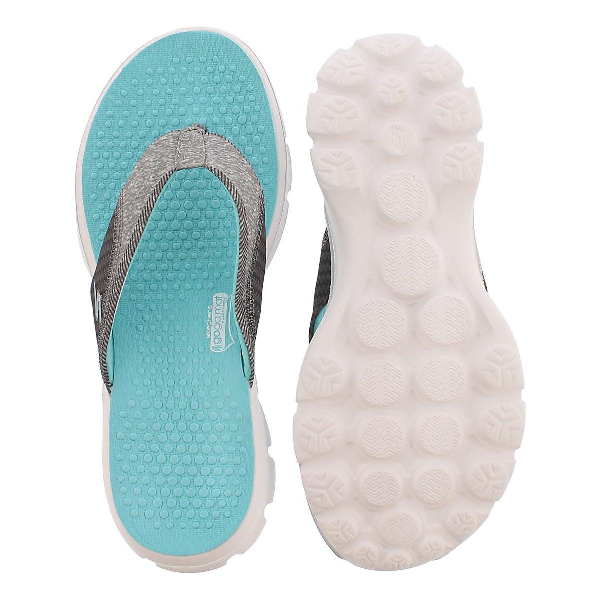 Lds Pizazz aqua thong sandal
