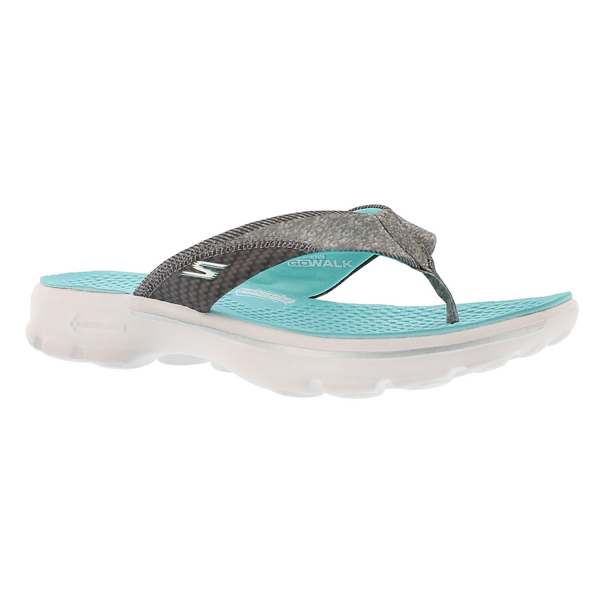 Women's PIZAZZ aqua thongs sandals