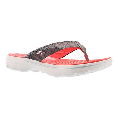 Lds Pizazz hot pink thong sandal