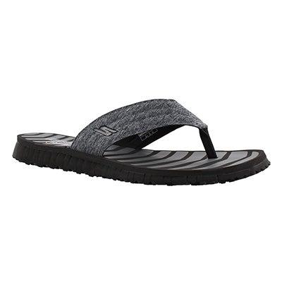 Lds GO Flex Vitality black thong sandal
