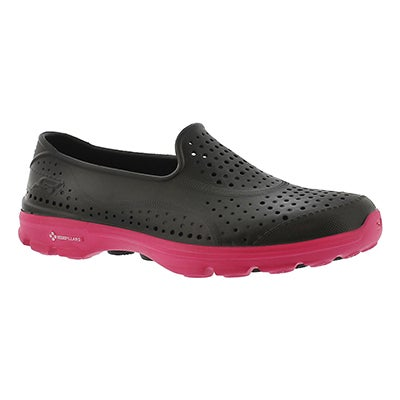 Skechers Women's H2GO black/pink waterproof slip on shoe