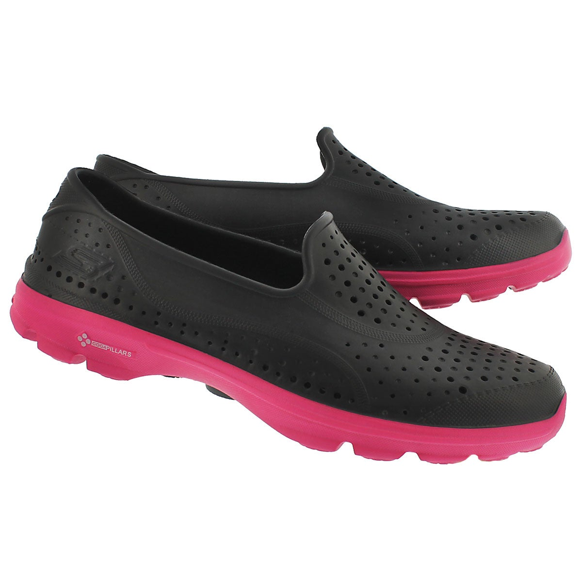 Lds H2 GO black/pink waterproof slip on