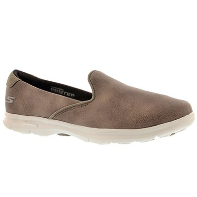 Lds Untouched taupe slip on loafer