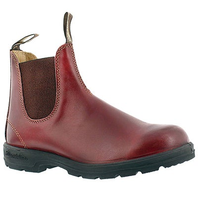 Blundstone Unisex ORIGINAL burgundy pull-on boots -UK SIZING