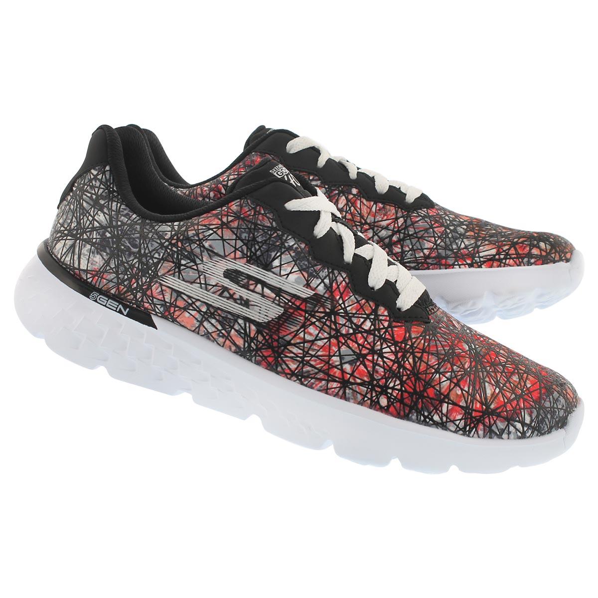 Lds GO Run 400 blk printed running shoe