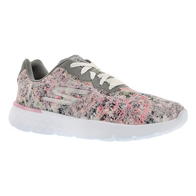 Skechers Women's GO RUN 400 grey printed running shoes