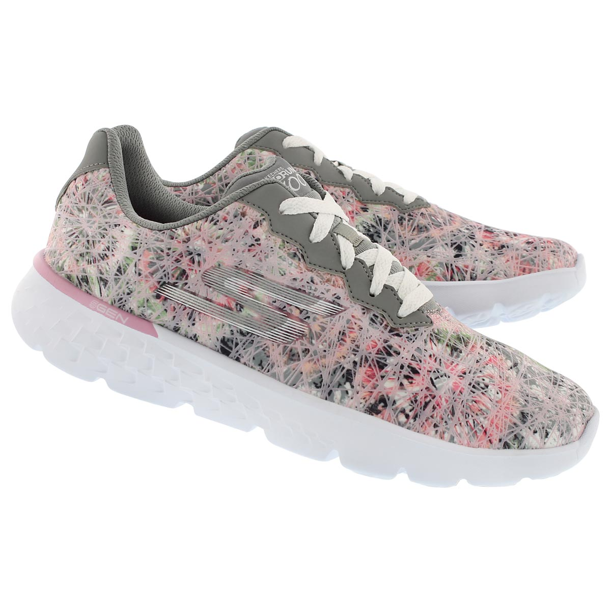 Lds GO Run 400 grey printed running shoe