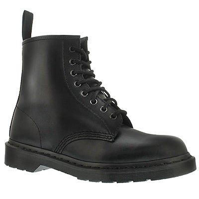Lds 1460 8 eye blk mono smooth boot