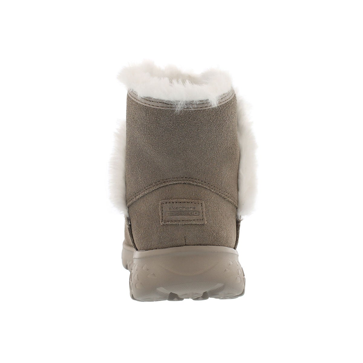 Lds 400 taupe pull on suede boot