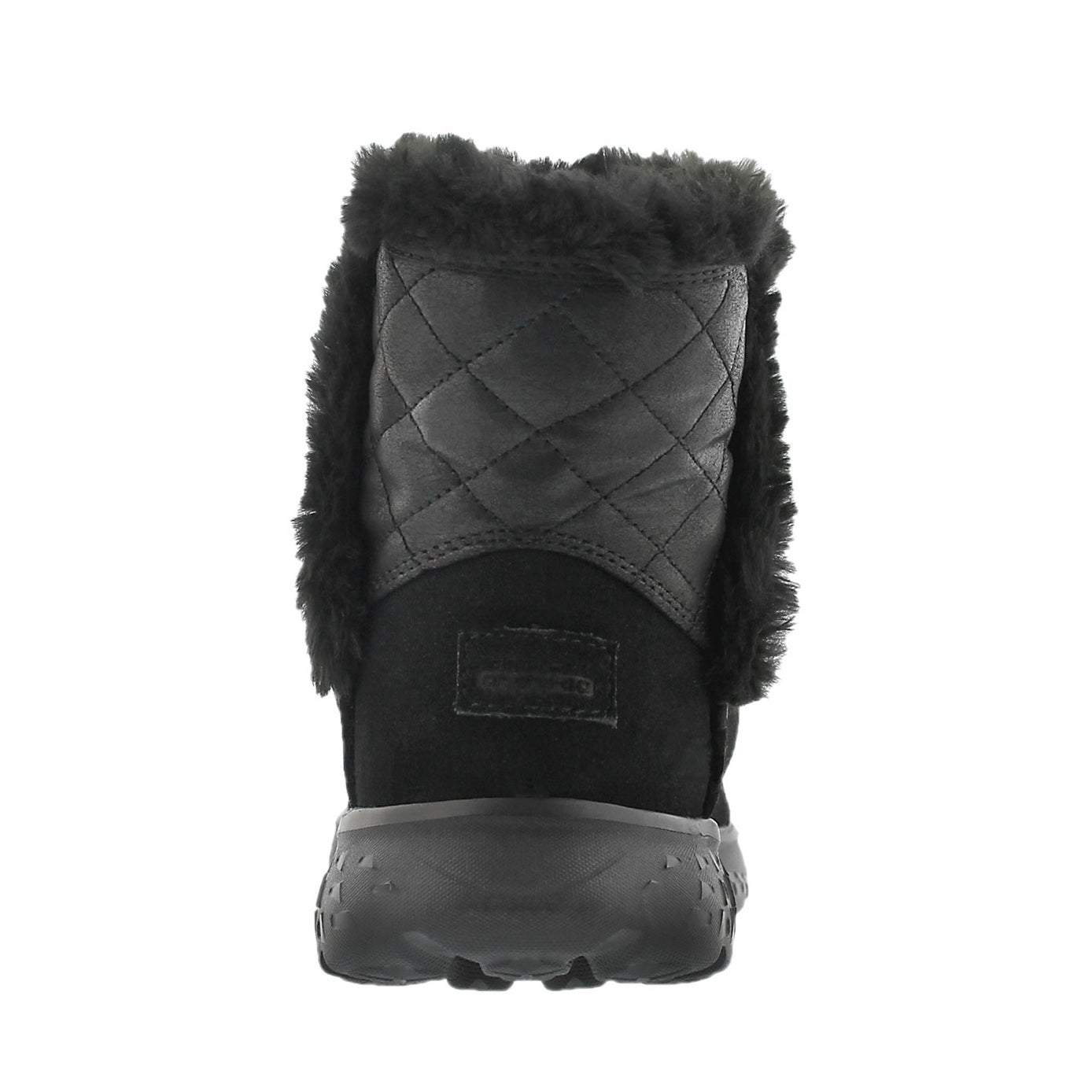 Lds 400 Cozies blk quilted suede boot