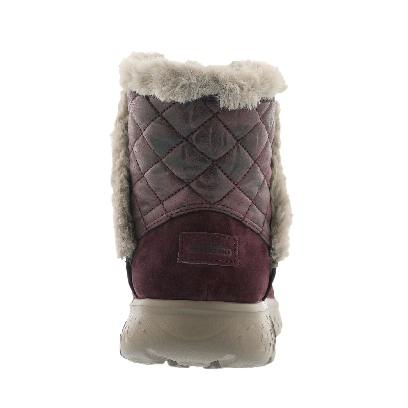 Lds 400 Cozies burg quilted suede boot