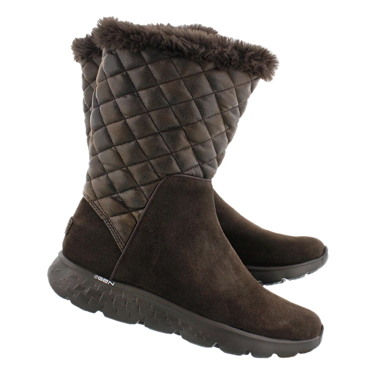 Lds 400 Snugly choc quilted mid boot