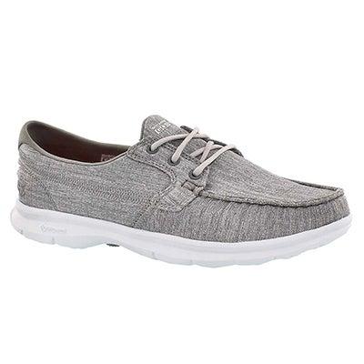 Lds GOstep Marina grey 3-eye boat shoe
