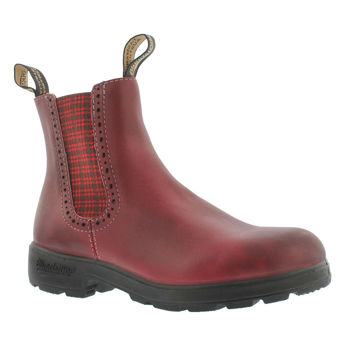 Women's 1442 GIRLFRIEND burgundy pull on boots