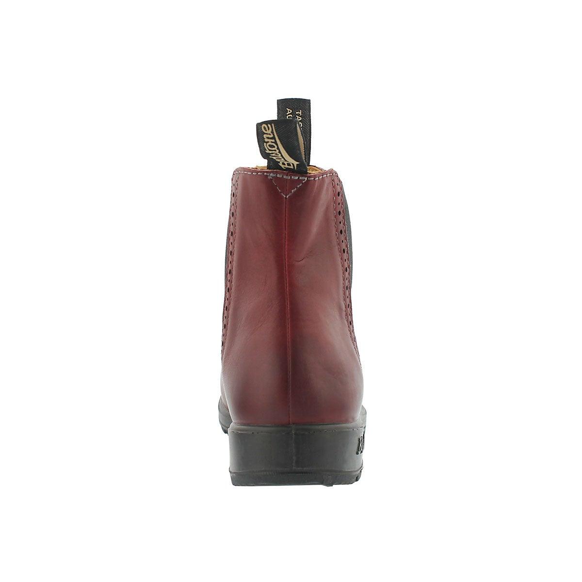 Lds Girlfriend burgundy pull on boot